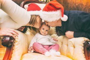 Sesja rodzinna świąteczna na terenie Krakowa. Sesja dziecięca.